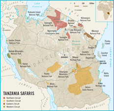 Map of Tanzania National Parks